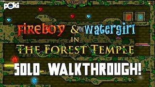 Solo!! Fireboy & Watergirl: The Forest Temple Solo Poki Walkthrough
