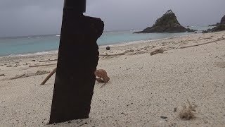 海に数年放置された刃こぼれ真っ黒錆び包丁を研ぐ