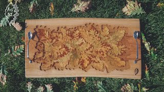 Epoxy & Oak - Cheese board | Deska do serwowania serów - Resin Art