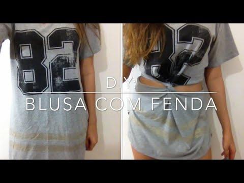 DIY: Blusa Com Fenda Lateral - Por Marina...
