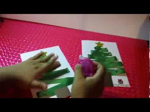Postal navidad gratis y f ciles de hacer manualidades for Manualidades navidenas con cartulina