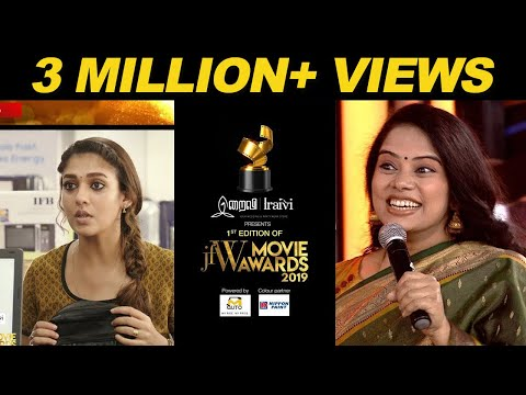 Deepa Venkat Live dubbing for Nayanthara at JFW Movie Awards 2019