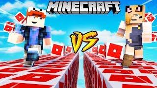 SZALONY WYŚCIG! - ROBLOX LUCKY BLOCKI MINECRAFT! (Roblox Lucky Block Race) | Vito vs Bella