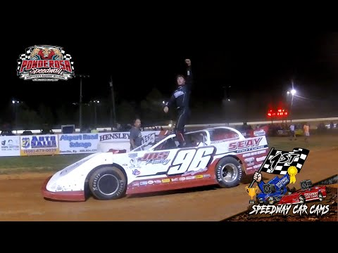 Winner #96 Tanner English - Super Late Model - 8-2-19 Ponderosa Speedway - In-Car Camera