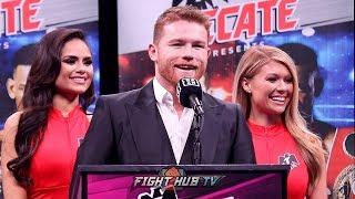 CANELO ALVAREZ'S FULL POST FIGHT PRESS CONFERENCE FOR DANIEL JACOBS FIGHT