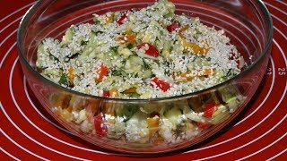 Витаминный Салат за 5 минут, с Авокадо и Кунжутом. Отличный Рецепт/Salad with avocado and sesame
