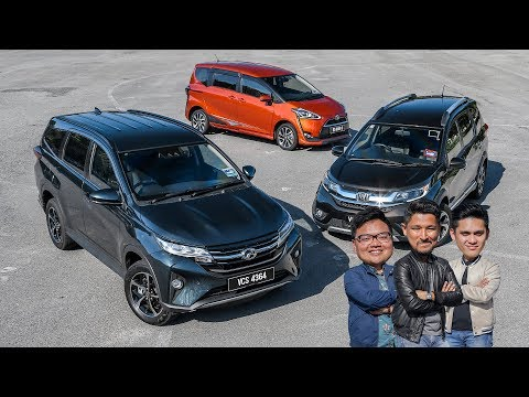 DRIVEN 2019: Perodua Aruz SUV vs Honda BR-V vs Toyota Sienta - Malaysian review