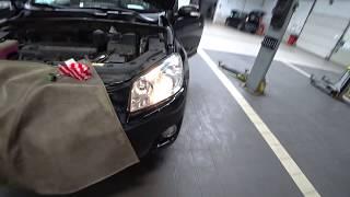 ТЦЛ. RAV-4 30кузов. Замена лампы ближнего света и переднего габарита.