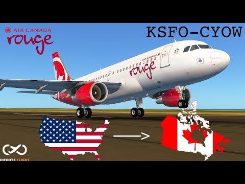 |Around the Globe| San Francisco to Ottawa : Air Canada Rouge, Airbus a319 [Episode 22]
