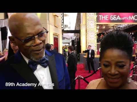 Samuel L. Jackson & LaTanya Richardson at 89th Academy Awards red carpet on FabulousTV