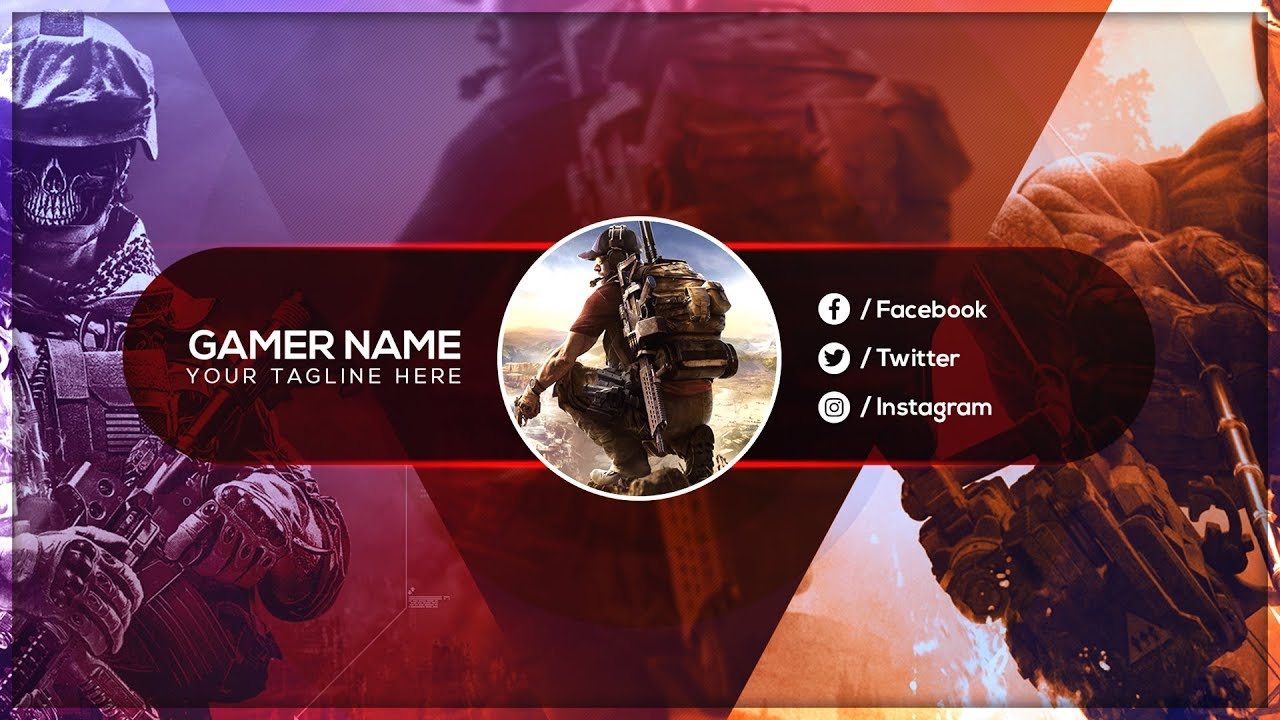 Youtube Channel Art How To Create A Youtube Gaming Banner Youtube