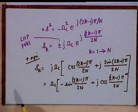 Lecture - 23 Analog Filter Design