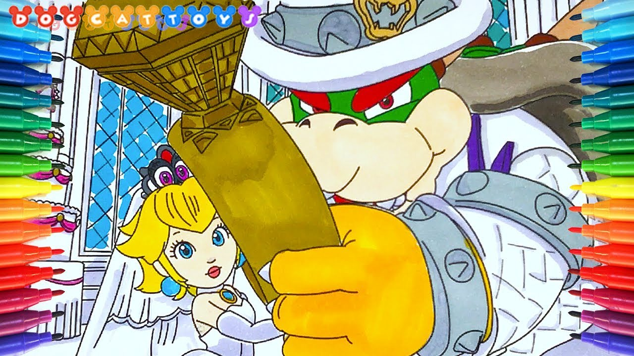 Bowser Princess Peach Wedding 260 Drawing Coloring Pages