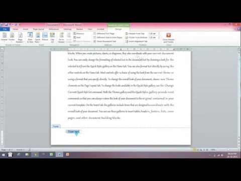 How to Insert and Delete Header or Footer in MS Word