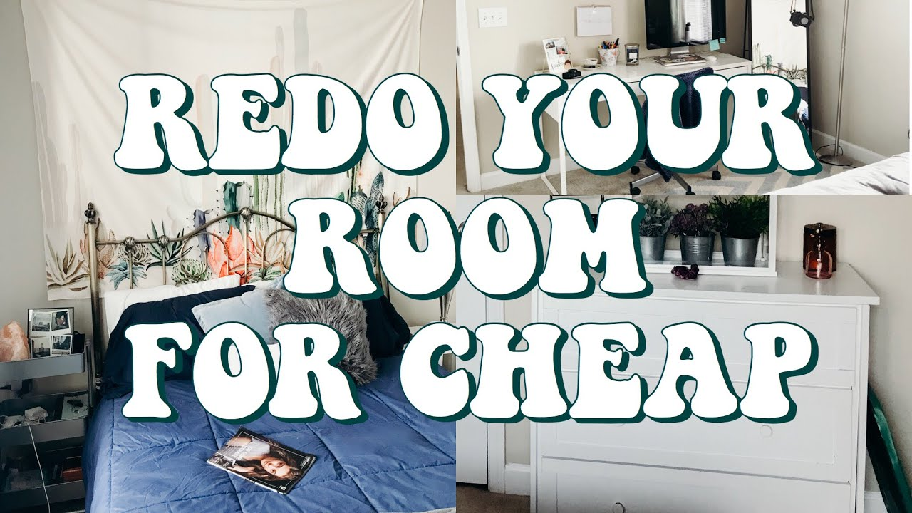 How To Redo Your Room For Cheap Huntermerck Youtube