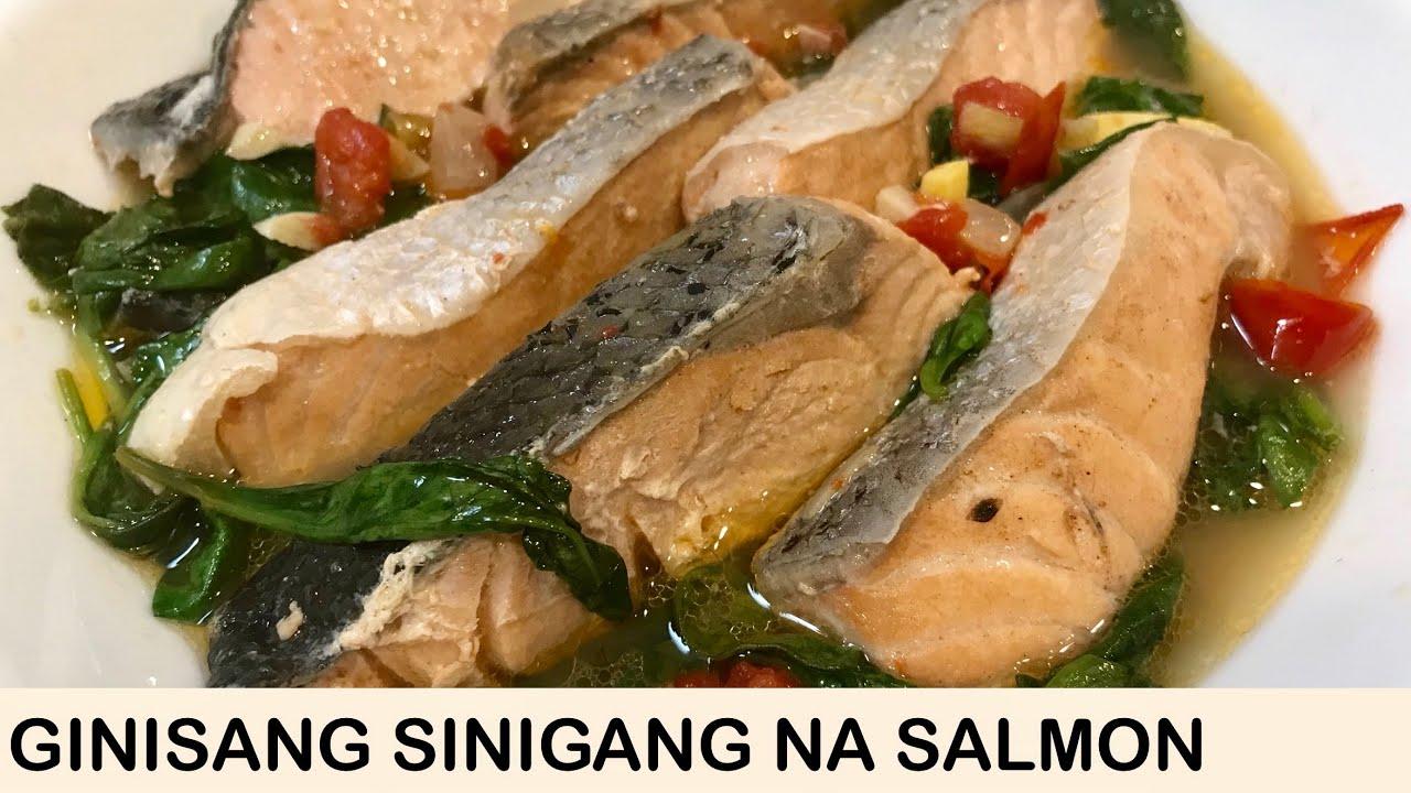 Ginisang Sinigang Na Salmon Pinoy Flavor Youtube