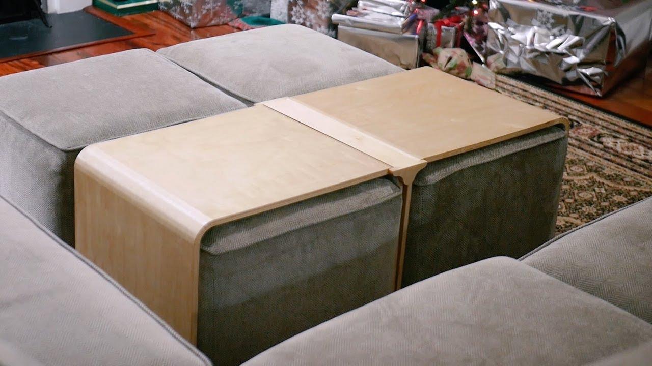 Kerf Bending Plywood - DIY Ottoman Table Build