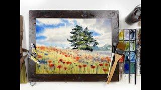 Мастер-класс по акварельной живописи «Маковое поле»