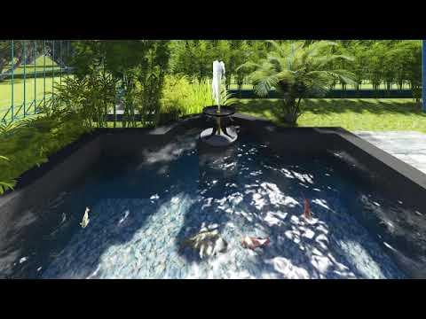 desain kolam ikan minimalis - youtube