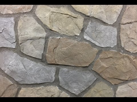 How To Do A Hand Carved Flagstone Concrete Overlay Wall Outdoor