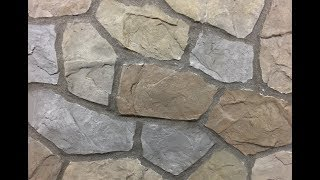 How to do a Hand Carved Flagstone Concrete Overlay Wall, Outdoor Kitchen, Fireplace, or Seat Wall
