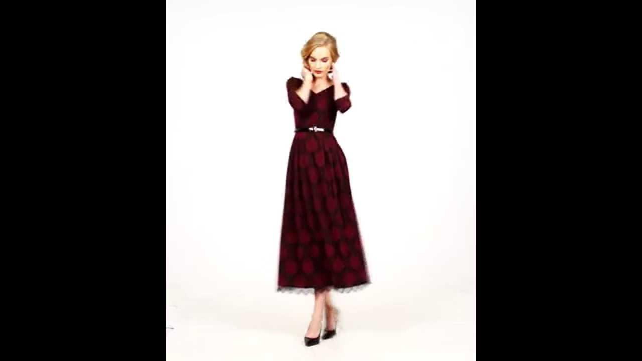 связать платье для женщины - YouTube