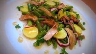 Салат Левада из спаржевой фасоли под соусом винегрет  Рецепт салата