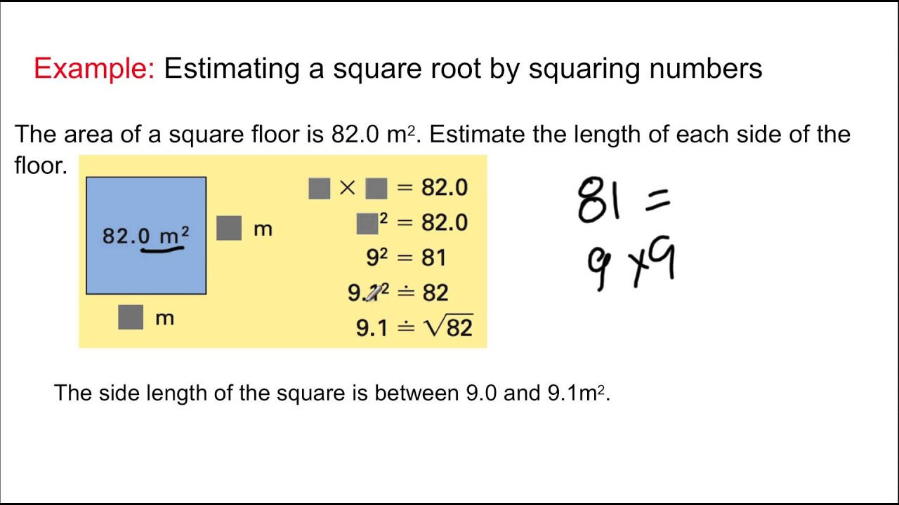 Grade 8 Math: Lesson 1.6 - Square Roots - YouTube
