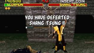 Mortal Kombat (Arcade) Shang Tsung defeated glitch #3 Scorpion