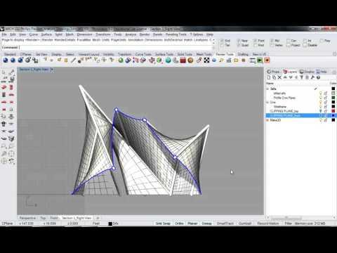 123 - Rhino - Phillips Pavilion Analysis Drawing Render Setup 02
