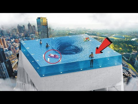 7 Most Dangerous and Strange Swimming Pools in the World In Hindi/Urdu | Swimming Pools | pool