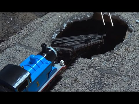 Thomas and Friends | Sodor's Legend of the Lost Treasure Remake Clip | Cavern Sinkhole CRASH