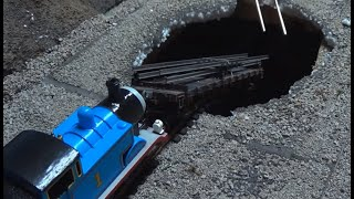 Thomas and Friends: Sodor's Legend of the Lost Treasure Remake Clip - Cavern Sinkhole Crash