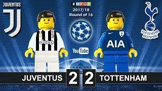 Juventus vs Tottenham 2-2 • Champions League 2018 (13/02/2018) Juve Spurs Highlights Lego Football