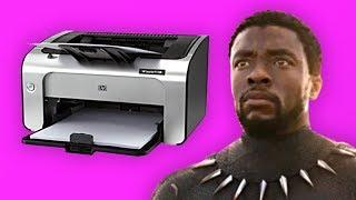 Black Panther's printer needs magenta ink