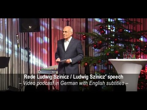 TGW Future Privatstiftung / Rede Ludwig Szinicz - Speech Ludwig Szinicz with English subtitles