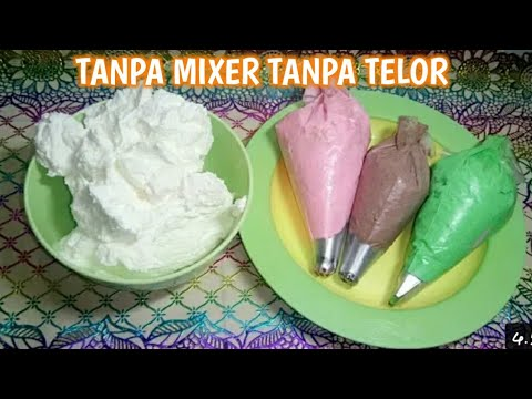 Cara Buat Batter Cream Tanpa Mixer Telor Youtube