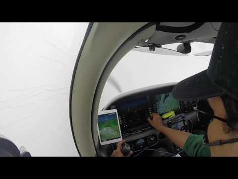 Cirrus SR22 - Approach to minimums in heavy rain - With ATC audio