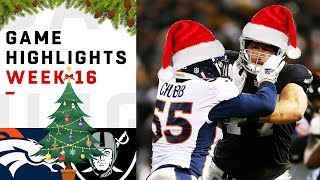 Broncos vs. Raiders Week 16 Highlights
