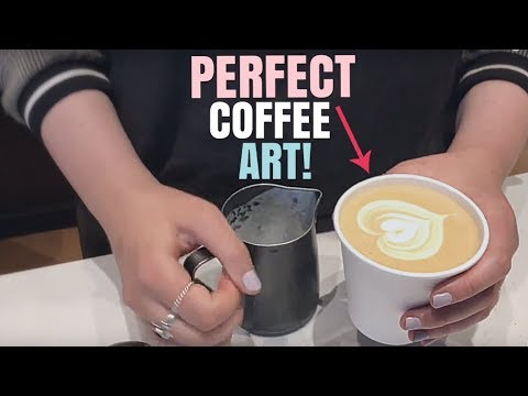 THE BEAUTY OF BARISTA COFFEE ART!!! [Montreal, Quebec, Canada]