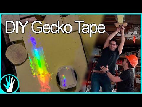 Climbing Walls With RAINBOWS - DIY Gecko Tape