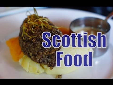 Eating Scottish Food And Scottish Cuisine In Edinburgh, Scotland
