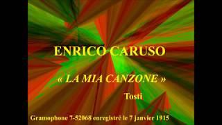 Enrico Caruso   La mia canzone   Tosti   Gramophone 7 52068 enregistré le 7 janvier 1915