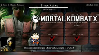 Mortal Kombat X Android Desafio / Challenge Ermac Klasico Dificil