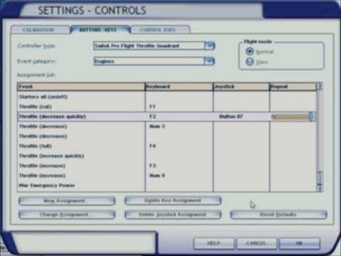 Setup the Saitek Pro Flight Throttle Quadrant for Throttle, Flaps,  Spoilers, and Reverse Thrust