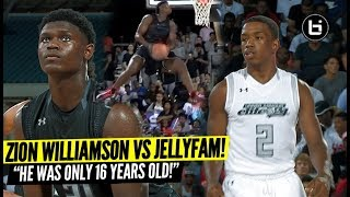 Zion Williamson (Only 16Years Old) VS JellyFam! Unseen Footage