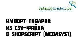 Импорт товаров в WebAsyst Shop-Script из CSV-файла