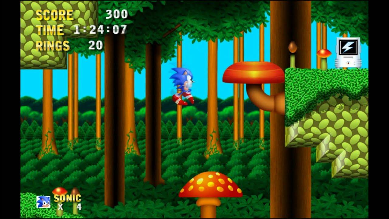 sonic 3 hd mushroom hill zone game play of tech demo v0 1 by 5onic
