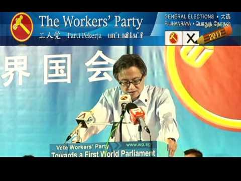 WP Hougang Rally (28 Apr 2011) - Chen Show Mao 2of2 (Tamil/English), Aljunied GRC