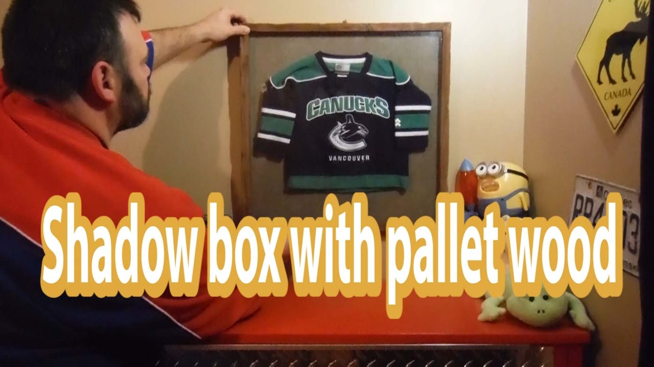 d9151c58f Jersey shadow box on a budget - YouTube